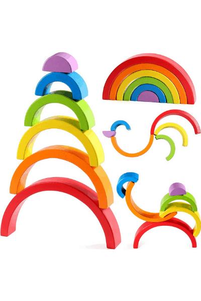 rainbow nesting toy