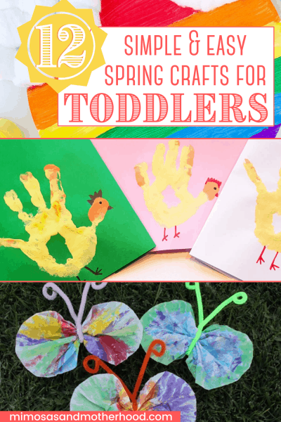 title image spring crafts for toddlers
