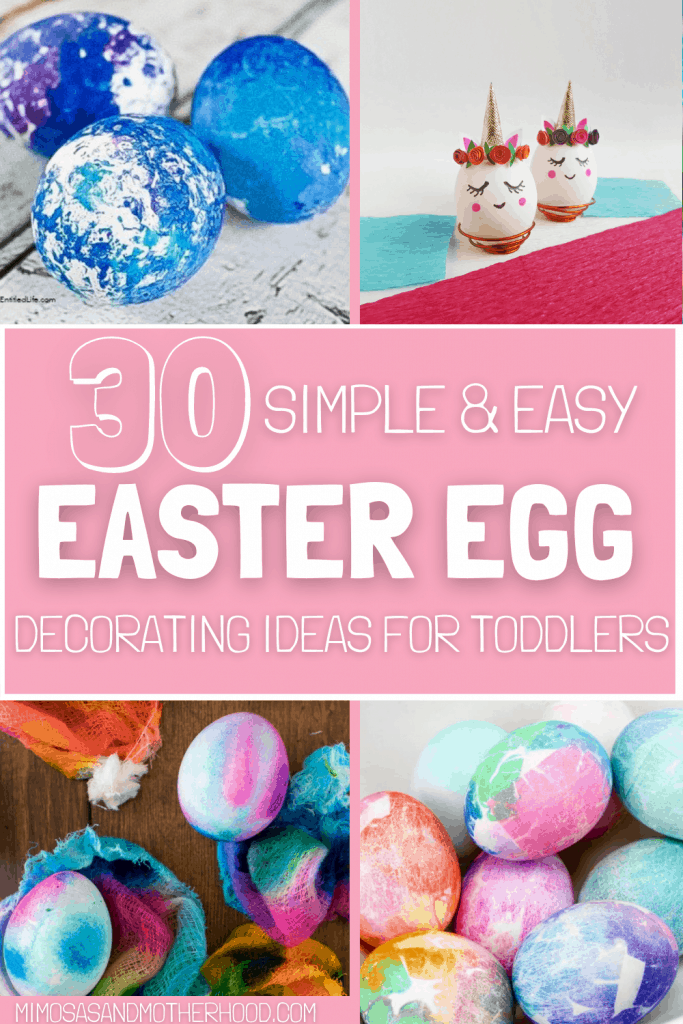 easy easter egg decorating ideas for toddlers