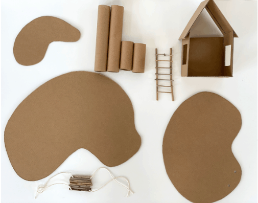 cardboard treehouse tutorial
