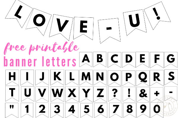 free printable abc letter banner template