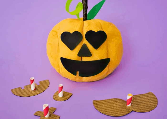 pumpkin playdough
