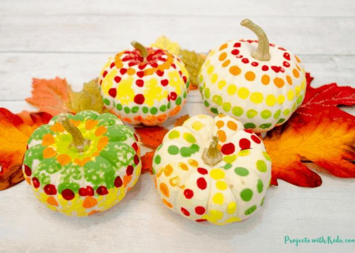 painted pumpkins kids