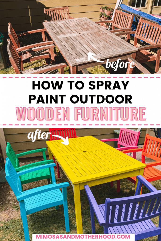 Rainbow Wooden Outdoor Patio Furniture, What Kind Of Spray Paint To Use On Outdoor Wood Furniture