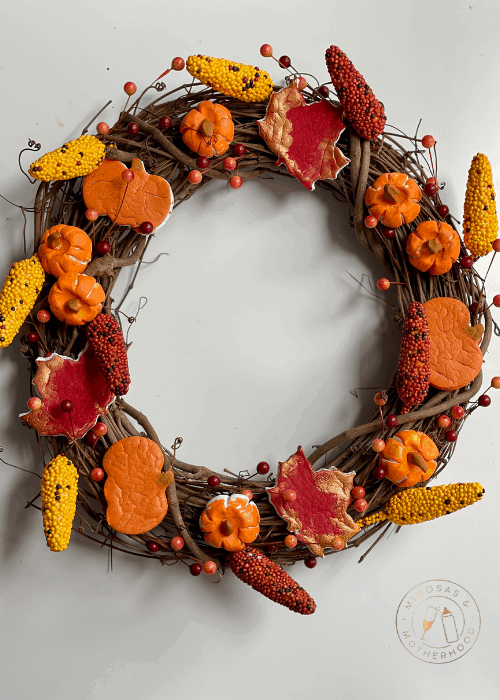 air dry clay fall wreath