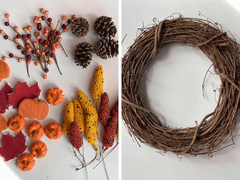 decorations for the diy fall wreath