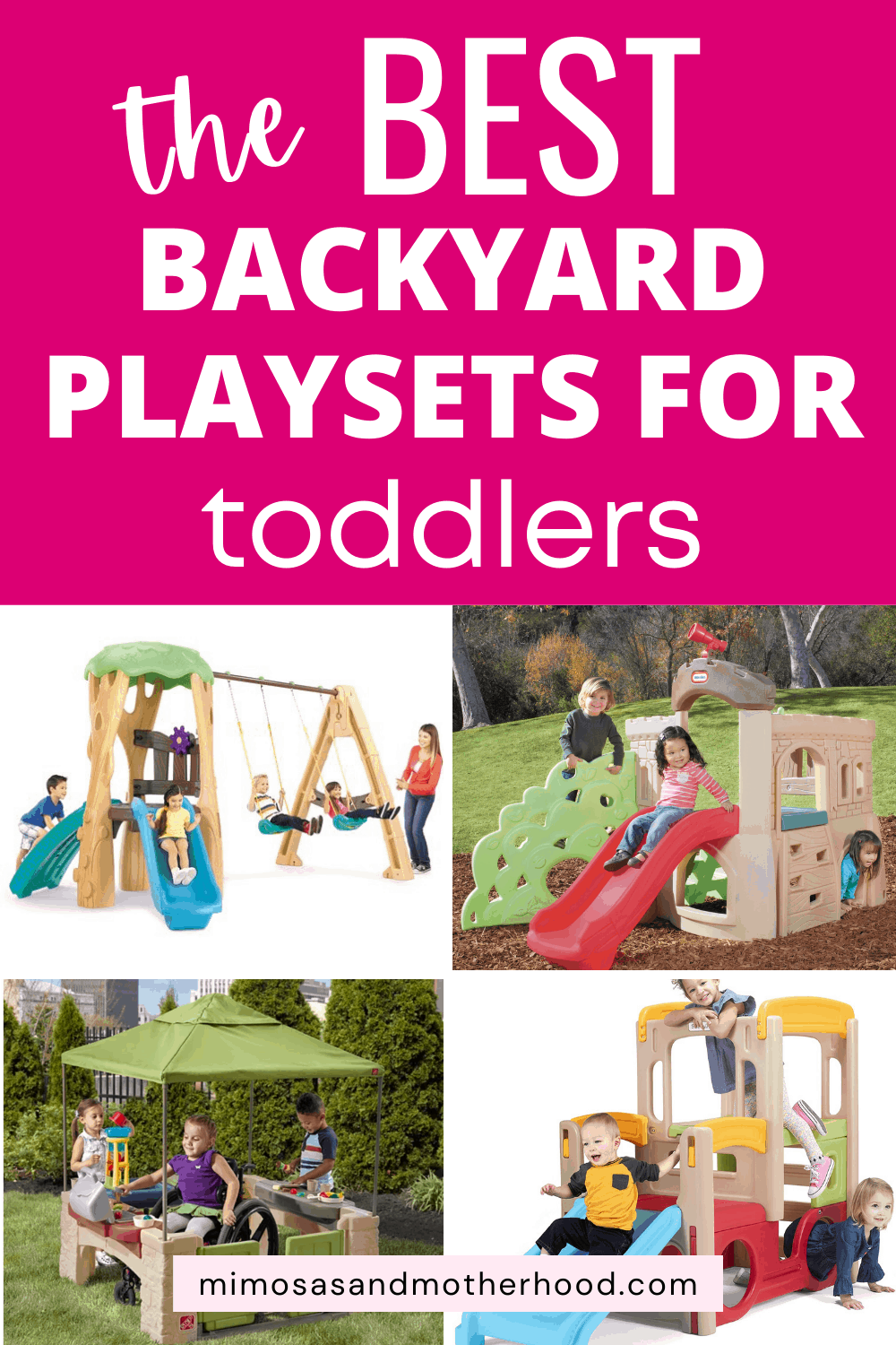 title image for best outdoor play sets for toddlers
