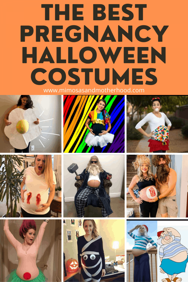 title image for maternity halloween costumes blog post