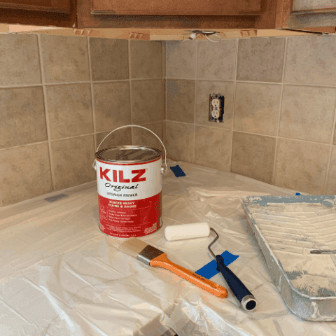 supplies needed to paint tiles