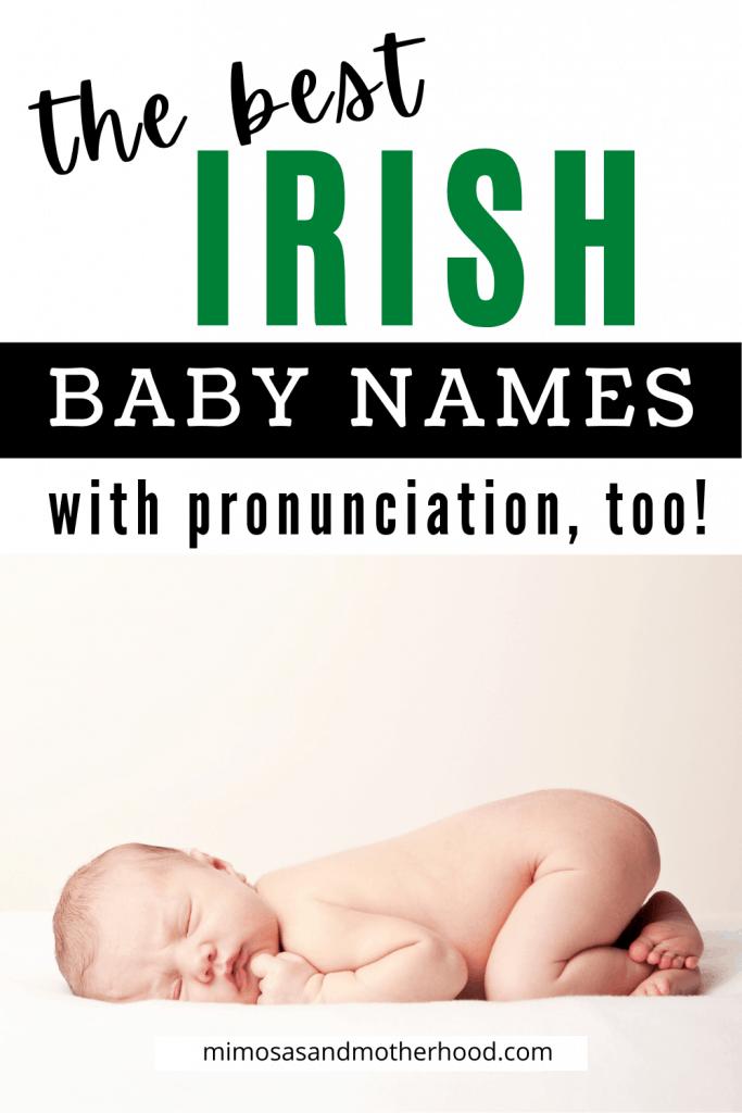 best irish baby names with pronunciation