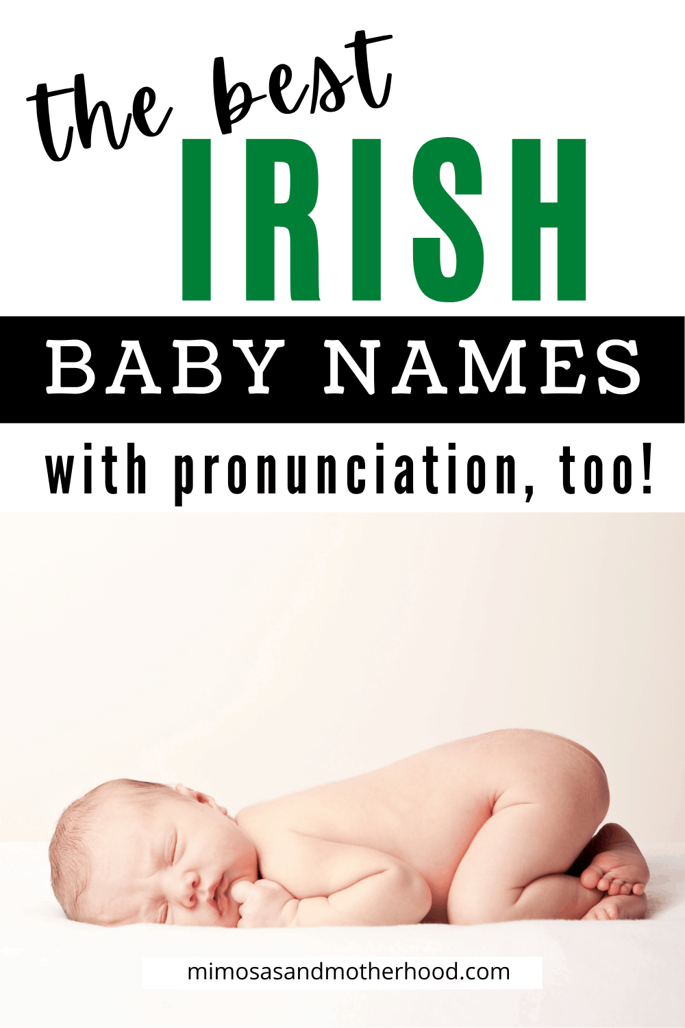 title image of the best irish baby names with pronunciation