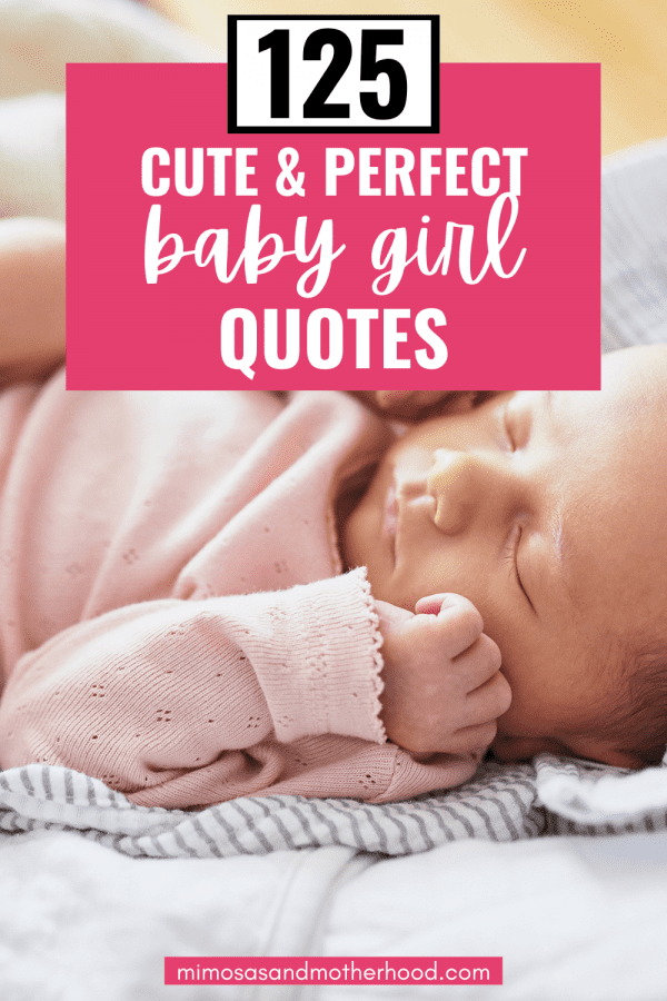 Title image for baby girl quotes blog post.