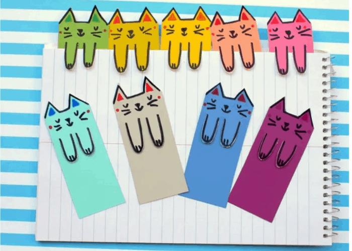 cat bookmark craft