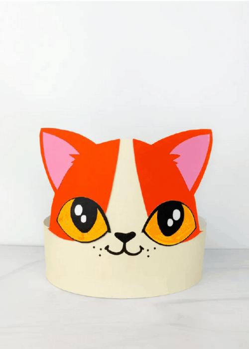 paper cat headband