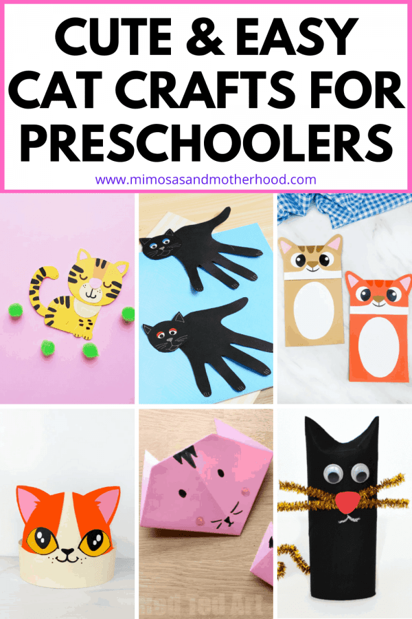 cute cat crafts for toddlers blog title image