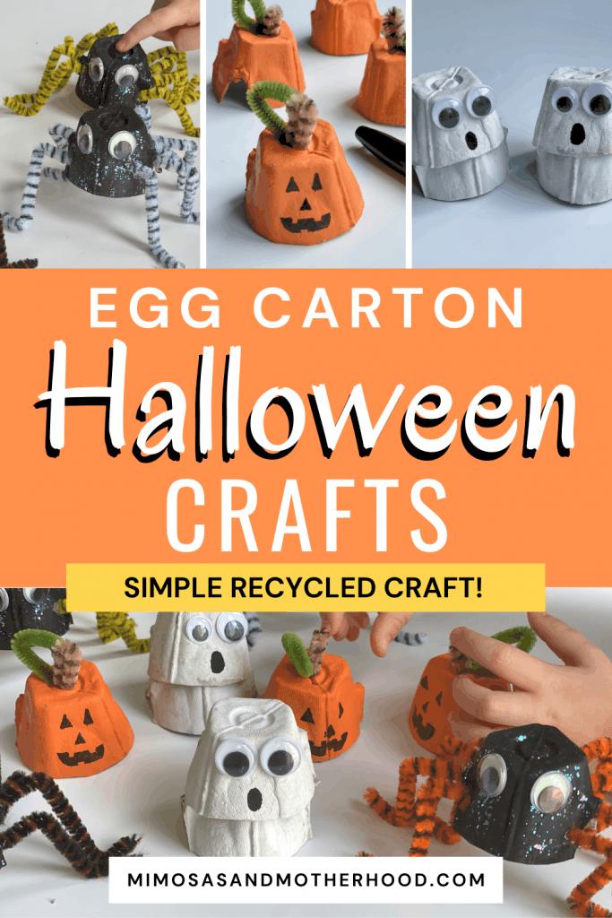 egg carton halloween crafts