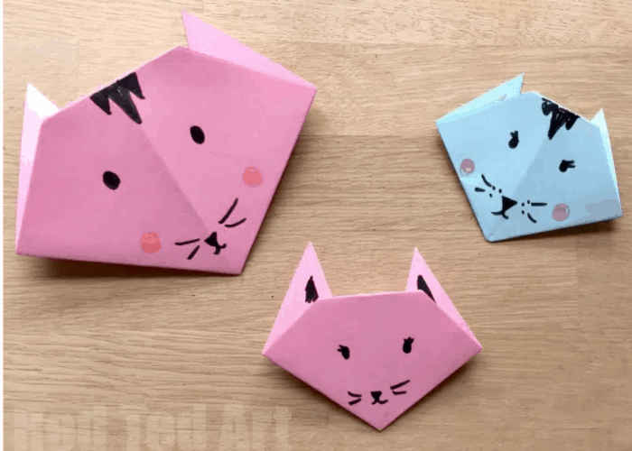 cats made with origami