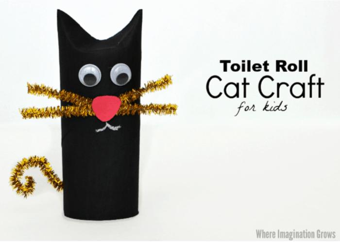 black cat cardboard craft